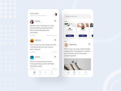 Question and Answer Application app uidesign ui design ui figmadesign design figma