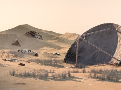 Quarantine ™ cinematic visual art rusty eroded sand c4dart environment design wasteland desert dystopia octane 3d