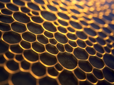 × CELL 2018 monday texture black gold membrane art motion design abstract 3d cell
