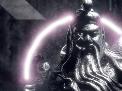 × GUAN YU 精神 octane visual grime 2018 grunge glow art design abstract 3d pose statue