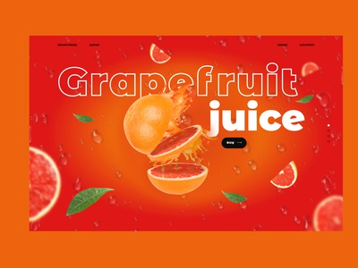Colorfull web-design. Fruit juice creative screen for first page colorful gradient graphicdesign website minimal ux web ui design