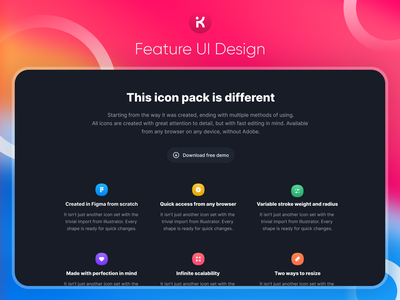 Dark Mode Feature Section of Website UI Design mobile foodapp illustration uidesign apple components company logo landingpage website design uiux websites webdesign typography uxdesign ui dark mode dark theme dark app