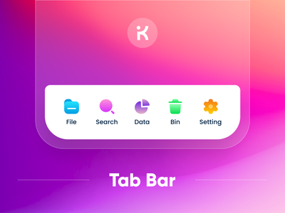 Tab bar | Gradient UI Design Concept minimalist logo clean ui clean color figma design figma app design designer design system components lightbox accordian tabs tabbar blurred background gradient design gradient