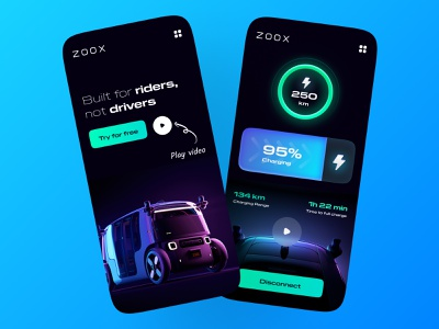 Zoox Electric Car ui logo saas landing page figma photoshop vector illustration minimal clean elegant electro electric website concept saas app delivery truck delivery app ecommerce saas uiux