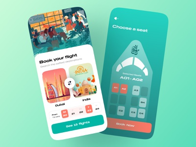 Flight Booking | App UI/UX ui design uiux ui ui  ux uidesign ticket booking ticket app tickets ticketing ticket cleanui bookings booking app seat aeroplane flight search flights flight flight booking flight app