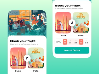 Flight Booking | App UI/UX typography dark mode logo ticket app booking app fight vector art adobe illustrator figmadesign ux  ui ux design mobile app mockups uikits wireframe mobile ux