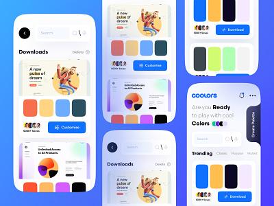 Color Palette App neumorphic design 3d animation smooth animation ui  ux 30daychallenge uidesignchallenge uidesignpatterns ui design color palette typography branding dark mode graphic design ui logo illustration uiux