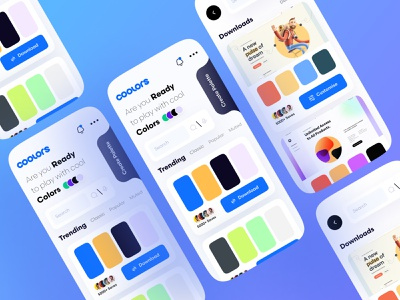 Color Palette App 3d modeling clean designchallenge color palette designer designs ui uxui ux website illustrator flat minimal web app icon vector mobile illustration