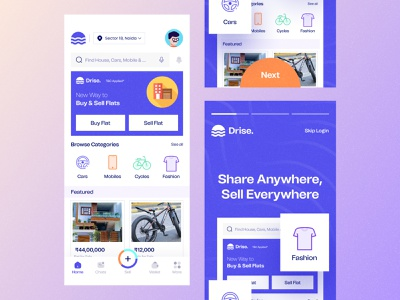 Drise Buy And Sell App buy sell app homepage hero section motion graphics graphic design 3d ux vector logo ui animation illustration design uiux branding typography