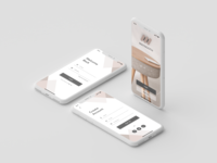 Start Page, Login & Sign Up pages for Furniture store Maynooth iphonex ios ios app design signup start page login page e-commerce app furniture app design adobe xd ux ui