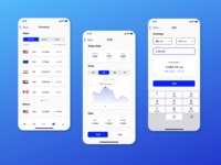 Currency Exchange App Design materialdesign currency converter currency exchange banking app finance app ios app design ios app iphonex design adobe xd ux ui