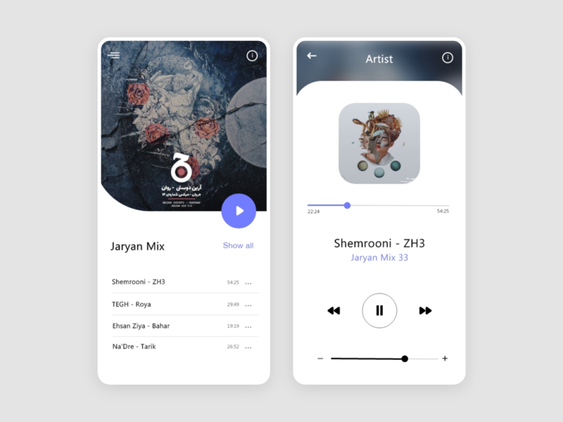 Music Player application app uxdesign ui design uiuxdesign music player player ui players music app music