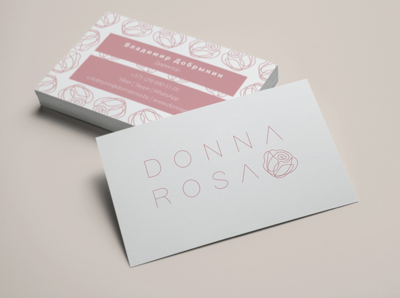 Brand identity for DONNA ROSA
