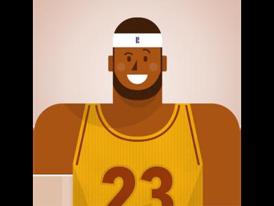 Lebron James character illustration basketball nba lebronjames lebron