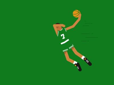 Dee Brown character illustration basketball nba celtics deebrown