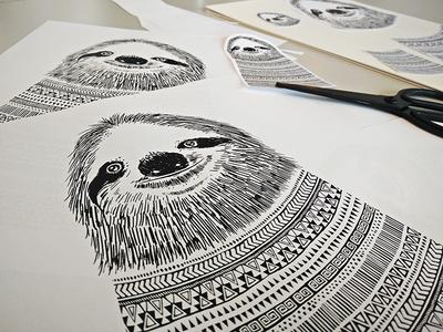Sloth — screenprint artwork