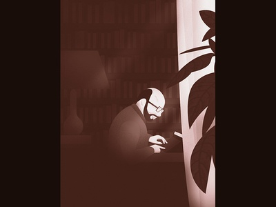 Dribbble typewriter writer illustration textures vector minimal still styleframe
