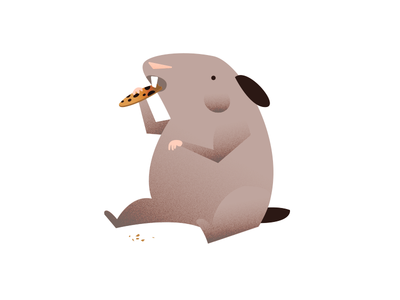 Playing around with this fat hamster sketch study illustration