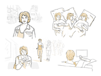 Sketches for a storyboard