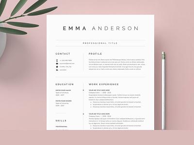 Word Resume & Cover Letter job cv design professional resume creative design coverletter cv resume template resume