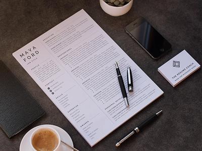 Professional Resume Template Modern | CV Template illustration professional resume cv template resume creative design coverletter resume template