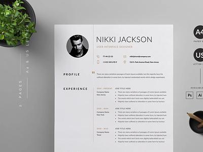 Professional Resume Template | Resume and Cover Letter | resume illustration resume template cv design design