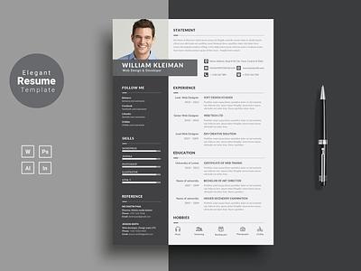 Professional Resume Template Word. CV Template Professional professional resume cv template creative design resume template resume