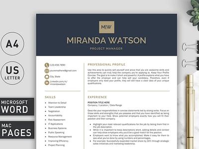 Resume Template | CV Template creative design cv template coverletter professional resume resume template resume
