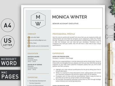 Resume Template | CV Template professional resume creative design resume template coverletter cv template