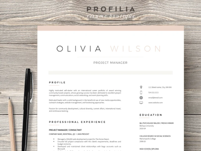 Word Resume & Cover letter Template professional resume creative design coverletter resume resume template illustration