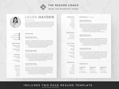 Resume Template / CV creative design resume illustration coverletter resume template