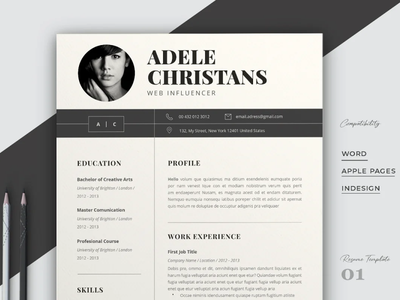Resume Template Word cv template creative design professional resume resume template resume