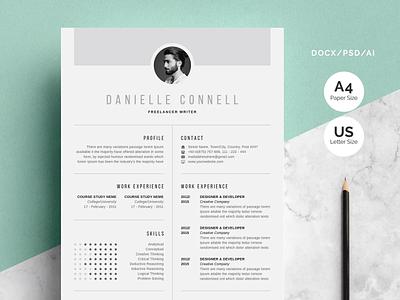 Creative Resume | CV Design illustration coverletter professional resume creative design resume resume template