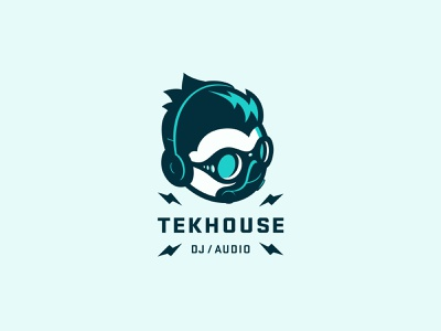 Tekhouse Covid-19 Mascot techno rave technology edm modern futurist caricature character mascot covid-19 covid19 covid headphones dance electronic music techhouse tech audio dj