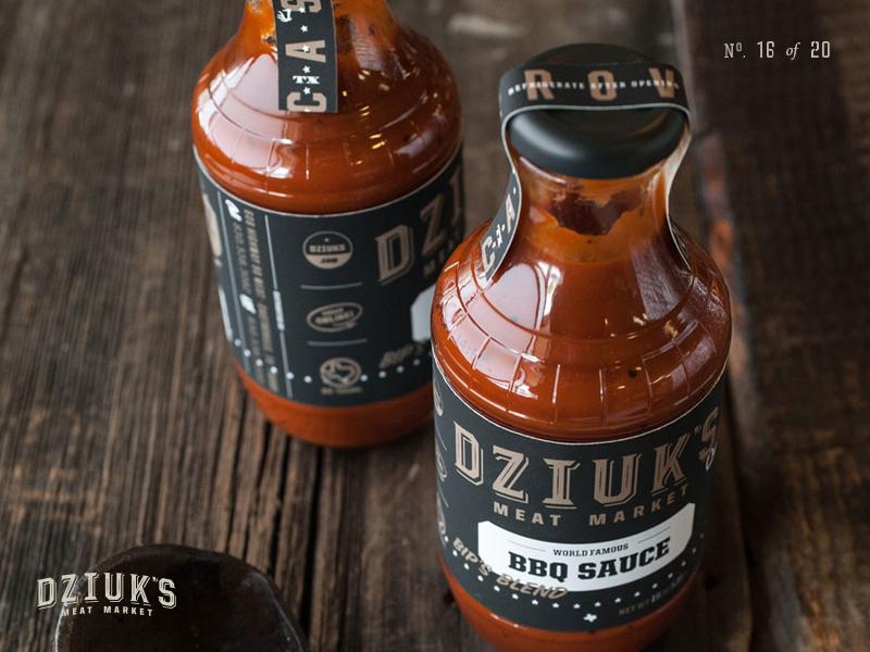 Dziuks BBQ Sauce bbq grill sauce seasoning marinade packaging bottle label