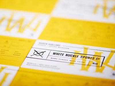 White Nuckle Sports Co. Business Card business card ball duplex letterpress monogram sports baseball