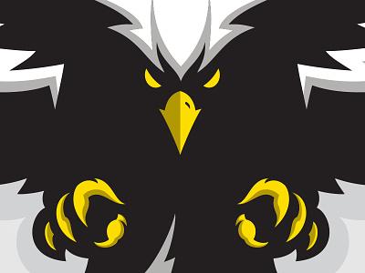 Eisenhower Eagle In Flight claws attack team sports wings beak talon feathers flight eagle mascot
