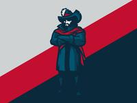 Cavalier Full Body Mascot