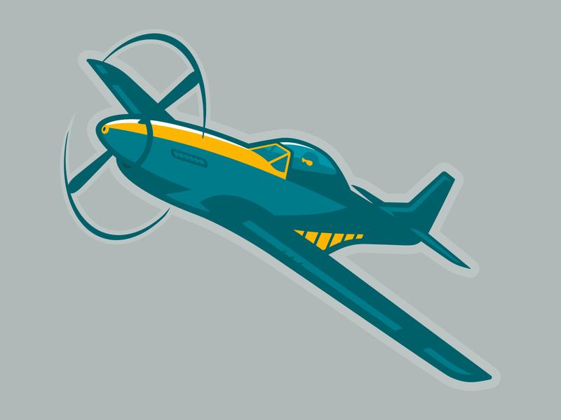 Aviator Mascot jet prop plane propeller liftoff flight wings fighter pilot wwii aircraft wwii p51 mustang mustang airplane aviation mascot aviator