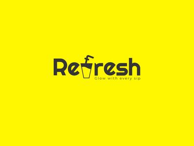 'Refresh' cafe Logo Design