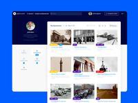 PastVU redesign concept // Account images