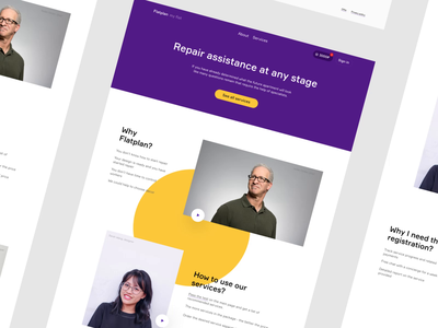 Main Page Design Concept colors main page repair animation design creative web ui ux interface