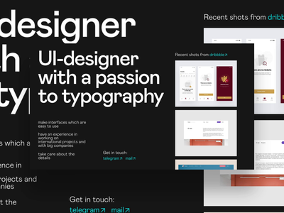 About me page exploration typography about page about me page after effects animation design creative web ui ux interface