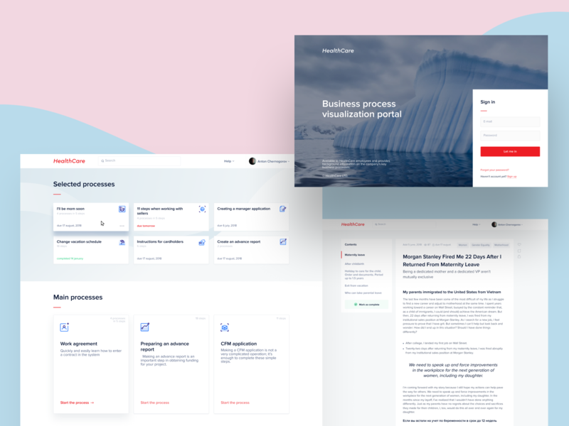 HealthCare Business Processes Layout by Anton Chernogorov   Dribbble