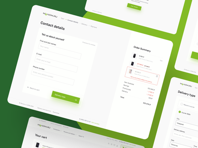 Checkout UI payment delivery shop buy ecommerce clean ui clean minimalism product items item checkout cart design creative web ui ux interface