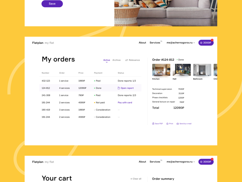 My Orders Account Layout