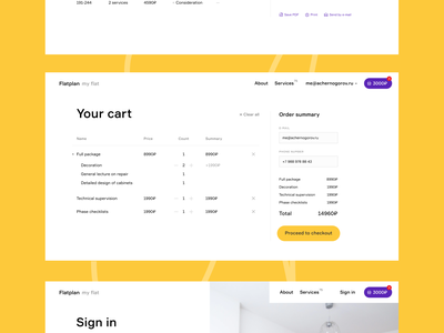 Your Cart Layout checkout cart page minimalism layout creative web design ui ux interface