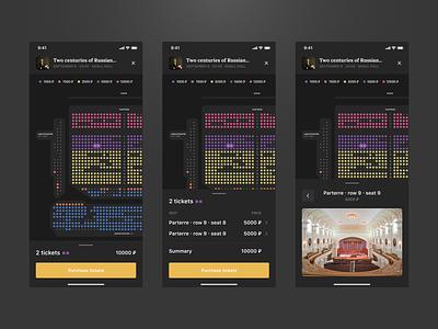 Hall Scheme Theatre App checkout scheme hall theatre app design ux ui interface