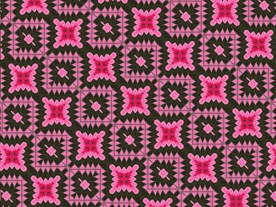 Diagonal pattern square black red pink design pattern