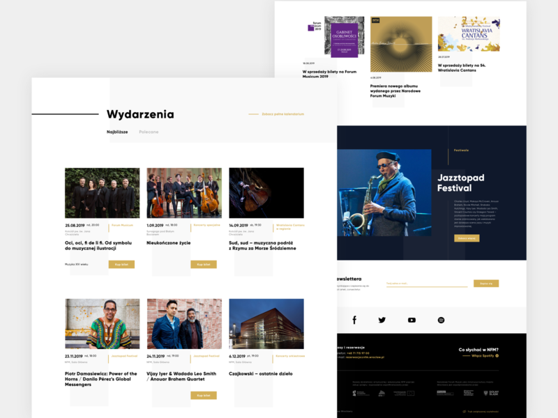 Narodowe Forum Muzyki | Website wireframing animation web uidesign website design website webdesign uxdesign ux design